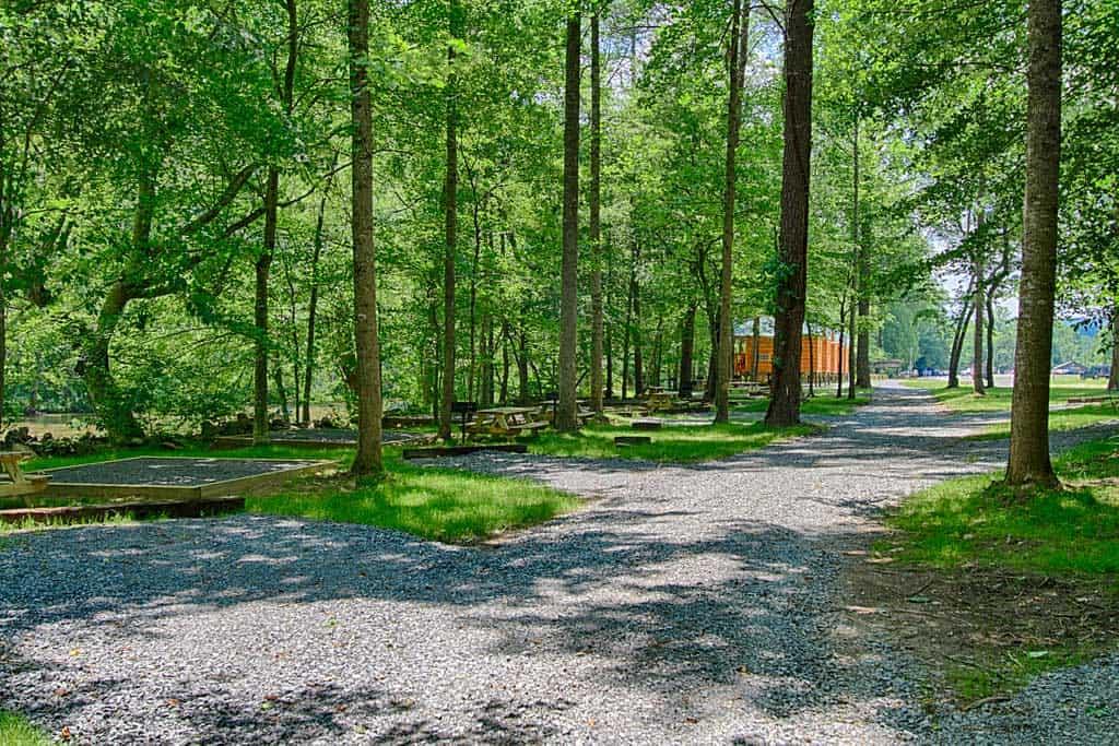 Photo of Pigeon River Campground near Gatlinburg TN.