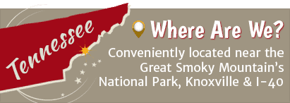 An illustration showing the location of the Pigeon River Campground near the Great Smoky Mountains National Park.