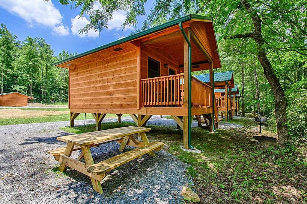 A great cabin at Pigeon River Campground near Gatlinburg.