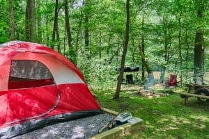 Pigeon River camping tent at Pigeon River Campground