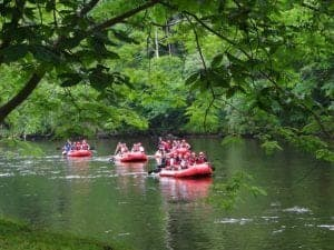 Whitewater rafting on the Little Pigeon River.