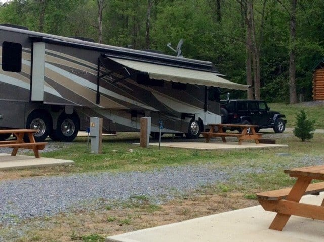 RV campsite in the Smokies