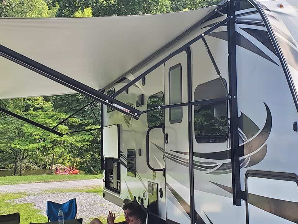 rv at the campground