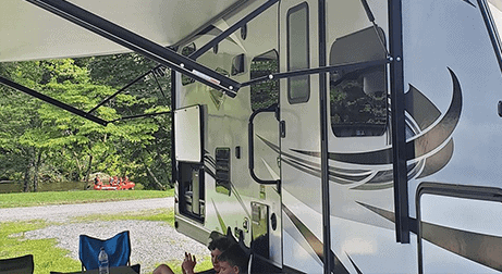 rv at a campground